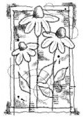 Woodware - Sketched Daisies - Clear Magic Single Stamp - FRS689